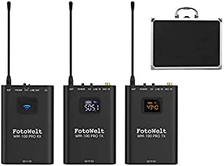 fotowelt UHF Professional Wireless Lavalier Microphone...