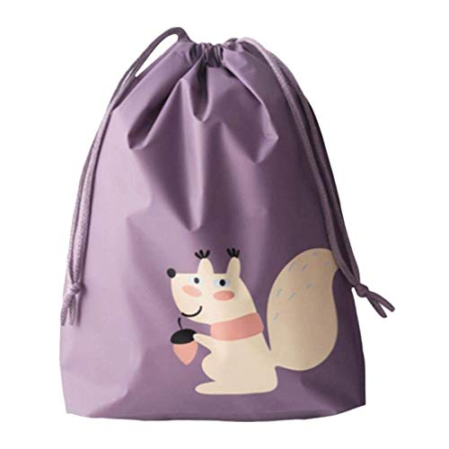 YuuHeeER Bolsa de viaje portátil impermeable de dibujos animados bolsa de viaje maleta zapatos ropa interior almacenamiento 5pcs mediano