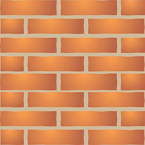 Brick Wall Stencil, 15 x 10 inch (L) - Faux Brick Wall Stencils for Painting Template
