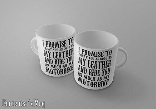 """Tee-/Kaffeetasse, Aufschrift """"I Promise To Ride You As Much As My Motorbike"""", ca. 325 ml"""