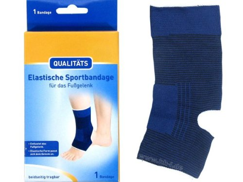 Fuss Fußgelenk Sportbandage Bandage elastisch, Gr. L