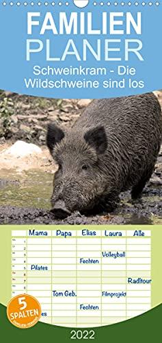 Schweinkram - Die Wildschweine sind los (Wandkalender 2022, 21 cm x 45 cm, hoch)