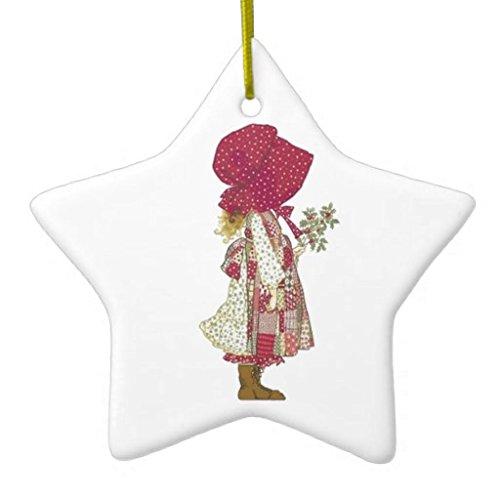 Leoner22art HoLLY HoBBiE DoubleSided Star Ceramic Christmas Ornament