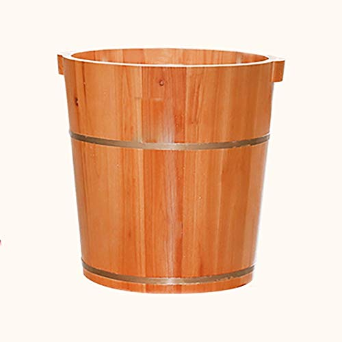 Great Deal! Wooden Foot Bath Barrel Foot Spa Bucket Foot Washing Barrel Pedicure Barrel Footbath wit...