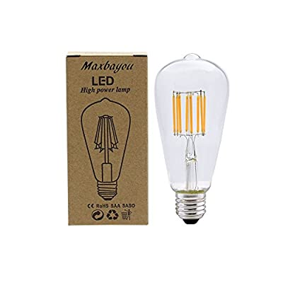 MBO E27 Vintage Edison Bulb LED 4W 6W 8W 3000K Warm White AC85-265V Non-dimmable for Indoor Table Lamps & Pendant