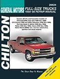 CHEVROLET & GMC TRUCK REPAIR SHOP & SERVICE MANUAL For BLAZER, C/K1500, C/K 2500, C/K 3500, TAHOE, SUBURBAN, YUKON, DENALI Yrs 1988, 1989, 1990, 1991, 1992, 1993, 1994, 1995, 1996, 1997 & 1998 - NEW