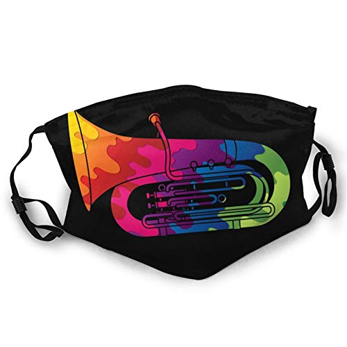 Mask Tuba Instrument Cartoon Music Dust Face Masks Double-Sided Printing Adult Mouth Cover Reusable Balaclava For Outdoor Protection