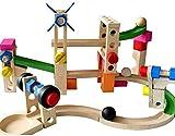 OOPP - Puzzle de Madera para niños, diseño de Pista de Pelota, Juguete Interactivo, Regalo de cumpleaños para niños