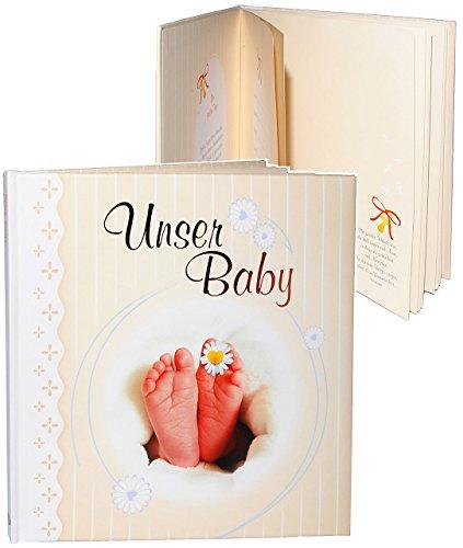 alles-meine.de GmbH Erinnerungsalbum / Babytagebuch / Fotoalbum -  unser Baby  - Gebunden zum Einkleben & Eintragen - Album & Erinnerungsbuch - Fotobuch / Photoalbum / Album / ..
