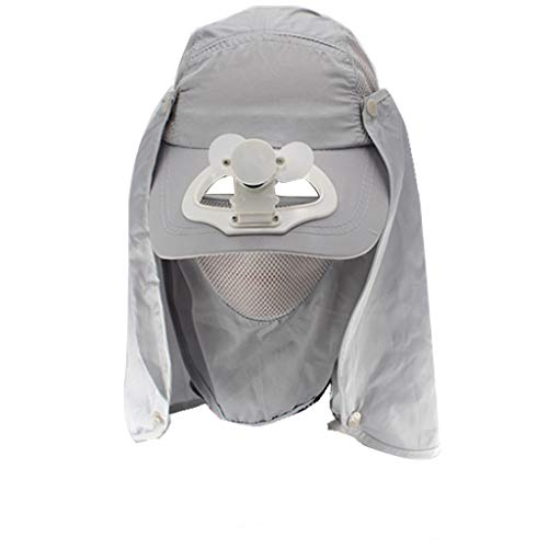 Sommer Outdoor-Solar-Sonnenenergie -Hut-Kappe, die kuehlen Ventilator Fuer Golf Baseball Sport USB Aufladen Gesicht-Gini by Vovotrade (Grau, 52-58CM)