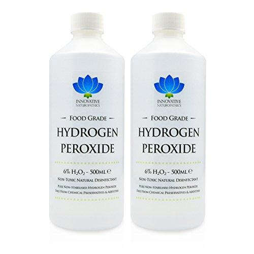 Wasserstoffperoxid in Lebensmittelqualität, reinste Qualität 6%, 1 Liter, unstabilisiert und ohne Zusatzstoffe, 20 Vol.