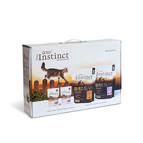 True Instinct Kit de Prueba Gato - 2 Sacos de Pienso High Meat y 2 Bolsas de alimento húmedo No Grain 2140 g