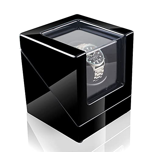 ANTLSZH Caja Enrolladora De Reloj Súper Silenciosa con Almohadillas Flexibles para Reloj Enrolladora De Reloj Enrolladora Automática Enrolladora De Reloj para Relojes Automáticos Modo De Rotación