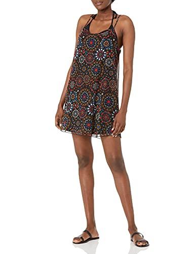 Desigual Vest_Zanzibar Maillot de Bain-Cover up, Noir, XL Femme