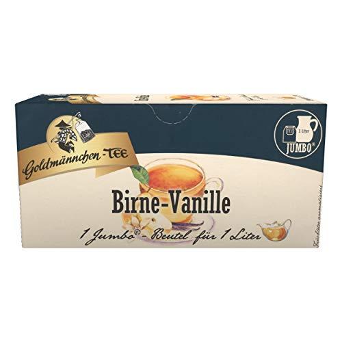 Goldmännchen Jumbo Tee Birne-Vanille, Birne-Vanilletee, Birnentee, Vanilletee, 20 Teebeutel, Große Beutel, 3166