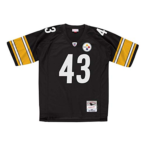 Mitchell&Ness M&N NFL Legacy Jersy Retro Trikot mit 7kmh Aufkleber Pittsburgh Steelers - Troy POLAMAL XL