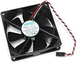 Genuine NMB Minebea Co LTD 3610KL-04W-B66, 12 Volt, 0.56Amps, DC Brushless Cooling Fan 92mm x 92mm x 25mm With Thermal Control Heat Sensor Switch, Compatible With Dell Latch Style 5.5-Inch 3-Pin 3-Wire Connector