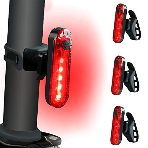RBNANA Rear Bike Light (3 PACK), Ultra Bright USB Rechargeable Waterproof...