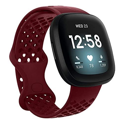 Classicase Correa de Reloj Compatible con Fitbit Versa 3 / Fitbit Sense, Silicona Banda de Reemplazo Pulsera (Pattern 8)