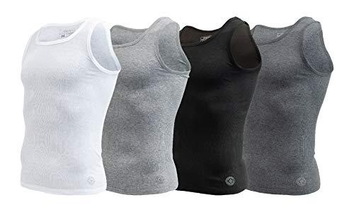 AEROPOSTALE Mens 4 Pack Contour Fit Mens A-Shirt Tank top (Large, Multicolored)