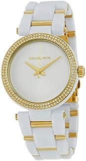 ساعة ديلراي للنساء بسوار من البلاستيك ومينا ابيض من مايكل كورس - MK4315