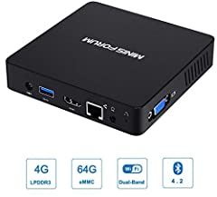 Great Processor and OS: This small mini pc equipped with advanced processor Intel Atom X5-Z8350 and Windows 10 pre-installed, which offers an excellent performance of Internet and Office applications, Media player, Monitor, Projector and TV. An ideal...