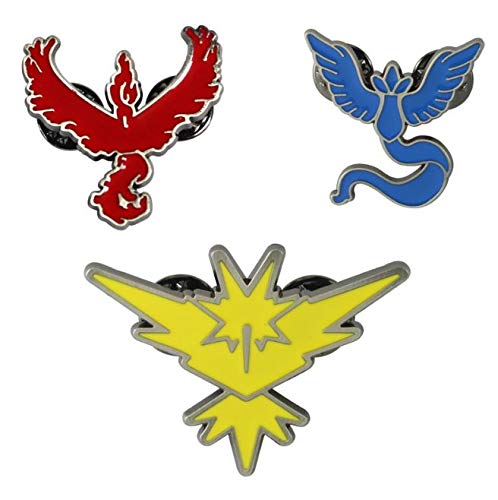 OYSTERBOY Pocketmon Go Gym Team Valor/Mystic/Instinct Cute Zinc Alloy Brooches Pin for SchoolBags Backpacks Shirt Hoodie Jeans Jackets Clothing Clothes