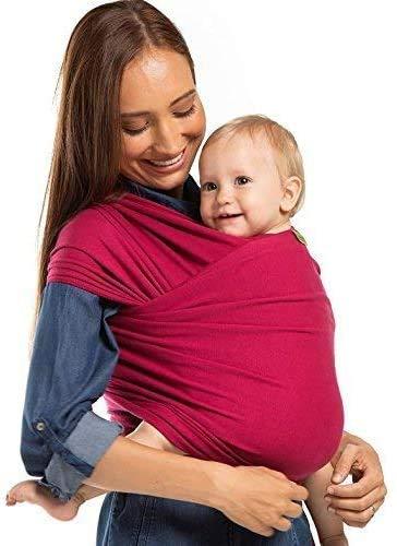 Boba Wrap - Fular portabebés, color rojo sangria