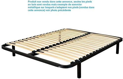 Wood Select Turnwood - Patas para Muebles de Madera de hevea, Altura 20 cm, 4 Unidades