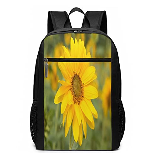 School Backpack Blossom Meadow Flower 65, College Book Bag Business Travel Daypack Casual Rucksack for Men Women Teenagers Girl Boy
