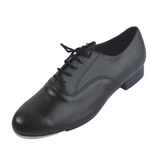 Jig Foo - Zapatos de claqué para hombre con tacón de 2,54 cm, color Negro, talla 41 1/3 EU