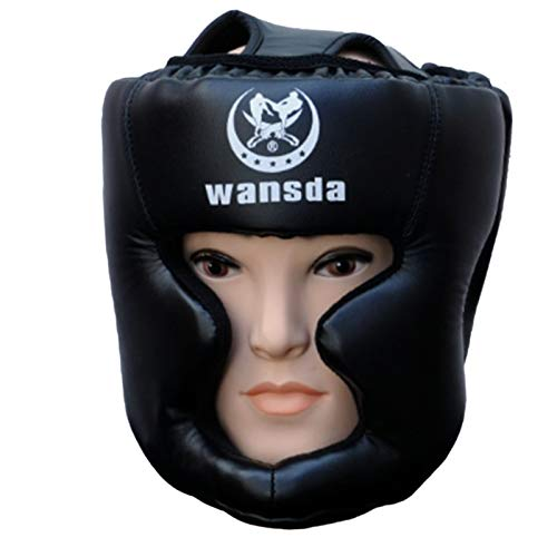 Kids Boxing Headgear, Essential Professional Synthetic Leather, UFC Fighting, Grappling, Judo, Kickboxing, Karate, Martial Arts, MMA, Muay Thai, Taekwondo, Protector Headgear Sparring Helmet