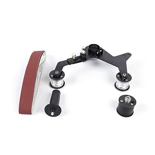 Bandschleifer Schleifmaschine, M10/M14 Edelstahl schleifen Tragbarer Griff Rundrohr-Bandschleifer Schleif Poliermaschine (M14)