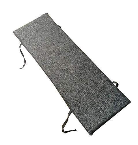 Cojín de banco antideslizante con lazos de fijación, 100 x 30 cm suave para silla de sillón, cojín grande de jardín, elegante color shenhui-100 x 35 cm