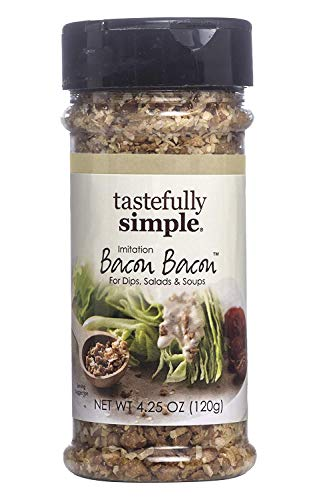 Tastefully Simple Bacon Bacon Seasoning - Great on Salads, Stir-Frys, Burgers, Vegan, No MSG - 4.25 oz