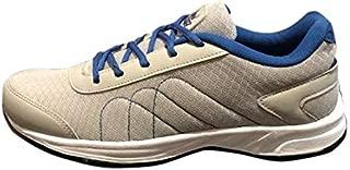 Allen Cooper Running Shoes for Men - Light Grey and R. Blue