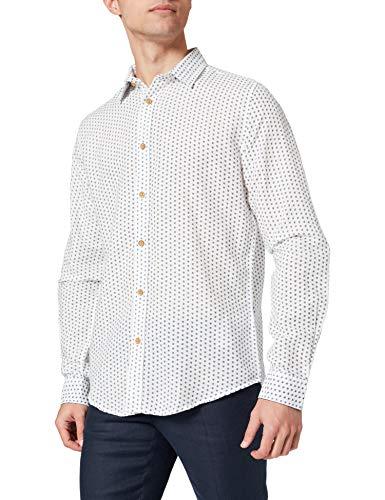 Springfield Camisa, Estampado Fondo Blanco, XL para Hombre