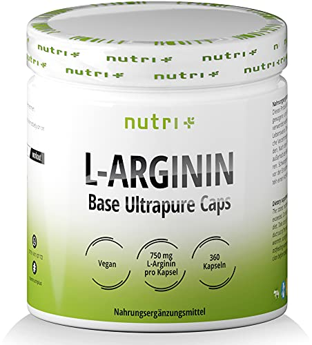 L-ARGININ BASE Kapseln vegan hochdosiert - fermentiert laborgeprüft - 4500mg 100{91dd896bad0e7286dadd7df0dee7f348b8984e4fba944694591554841207f904} reines pflanzliches L-Arginine für Männer & Frauen - 360 Caps ohne Magnesiumstearat und Gelatine