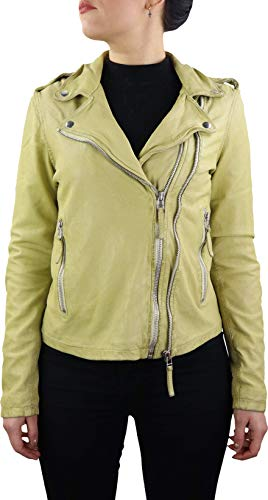 Lederjacke Roxy Damen Biker Jacke Slim Fit aus weichem Lamm Leder (Glattleder) Schwarz Rot Grün Cognac Beige Braun Blau Hell Grau