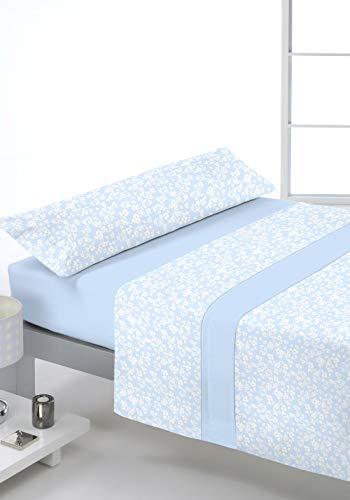 Reig Marti Juego DE SÁBANAS CORALINA, Modelo: Kisha, Color: 03 Azul, para Cama DE 105cm.