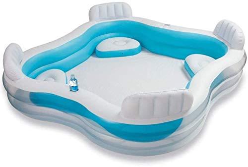 DFKDGL Klapppool Swimmingpool, Sitzpolster für Rückenlehnen, übergroßer Familienpool, Ocean Ball Pool für Kinder, ideal für alle Kinder und Erwachsene