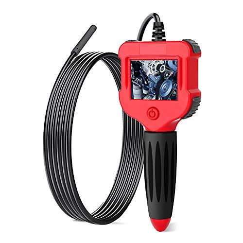 Kilcvt Endoscopio Industrial, Boroscopio Digital Cámara De con Pantalla LCD a Color De 2,4 Pulgadas/Cámara De 5,5 Mm/Cámara De Serpiente Semirrígida Impermeable Ip67 con 6 Led,Line Length,3m