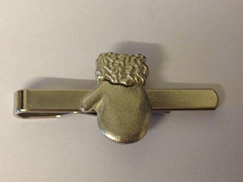 Santa Fäustling Handschuh gt197aus feinem englischen Moderne Zinn auf einer Krawatte Clip (Slide) geschrieben von uns Geschenke für alle 2016von Derbyshire UK