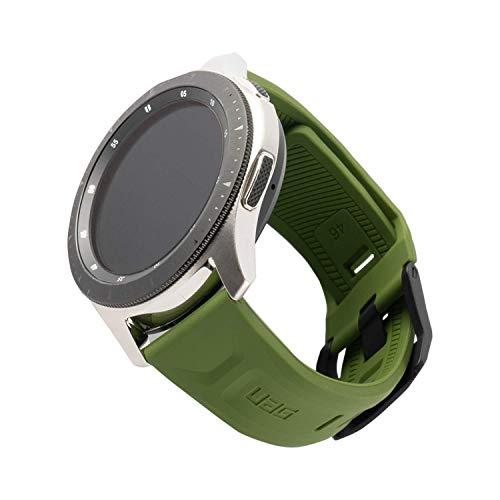 Urban Armor Gear Scout per Samsung Galaxy Watch 46mm, Gear S3 Frontier & Classic, Watch Active 2 (44mm) - [Cinturino di ricambio in silicone morbido e forte, chiusura in acciaio inossidabile] - oliva