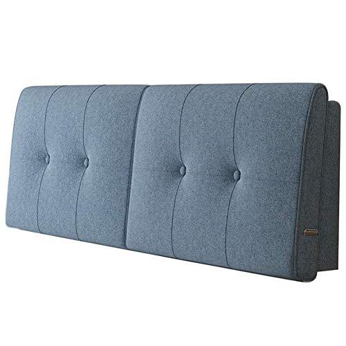 QIANCHENG-Cushion Kopfteil Rückenlehnen Bett Kissen Soft Case Doppelbett Große Rückenlehne Bettdecke Baumwolle und Leinen Waschbar, 5 Farben (Color : #5, Size : 120x58cm)