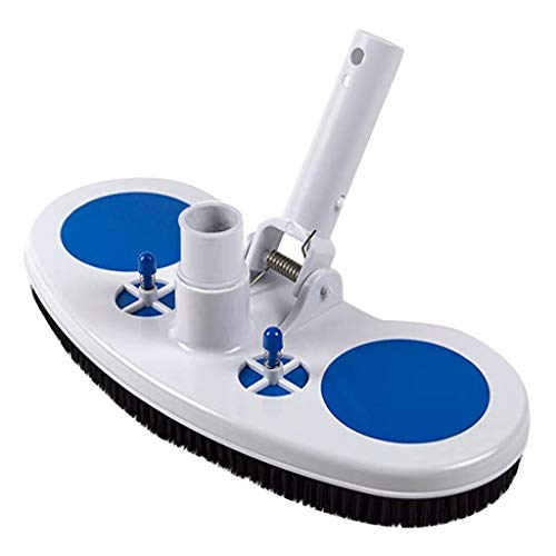 Swimming Pool Weighted Manual Vacuum Head with Hydrostatic Relief Valve for Cleaning Above Ground & Inground Swimming Pool Flexible Handle with EZ Clips Quickly Clean Walls, Corners and Slopes (White)