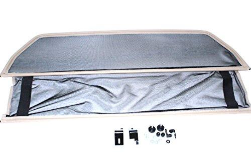 GermanTuningParts Frangivento Per Mercedes CLK W208 (1998-2003) - Pieghevole - Beige | Deflettore Aria | Deflettore Del Vento | Paravento Per Decappottabili