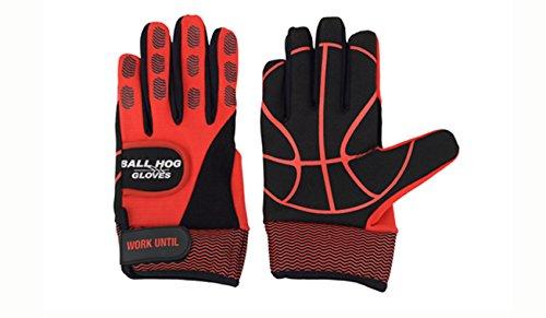 Ball Hog Gloves (Weighted Anti Grip Ball Handling X-Factor (Basketball Training Aid)