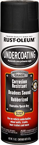 Rust-Oleum 248656 Professional Grade Rubberized Undercoating Spray, 15 oz, Black