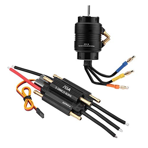 70A 3380KV Water Cooling RC Motor, RC Brushless Motor, Multifunction Use for RC Boat